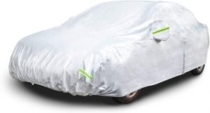 AmazonBasics Silver Weatherproof Car Cover