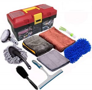 Snow Eagle-L 10Pcs Car Cleaning Tools Kit